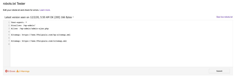 Alat Penguji Robots.txt oleh Google