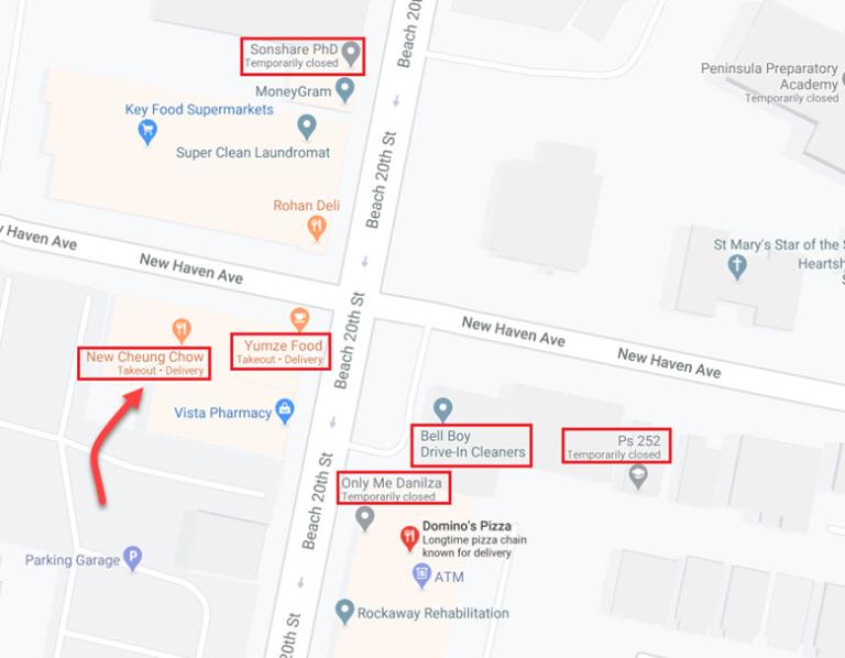 GMB menampilkan atribut toko di Maps.