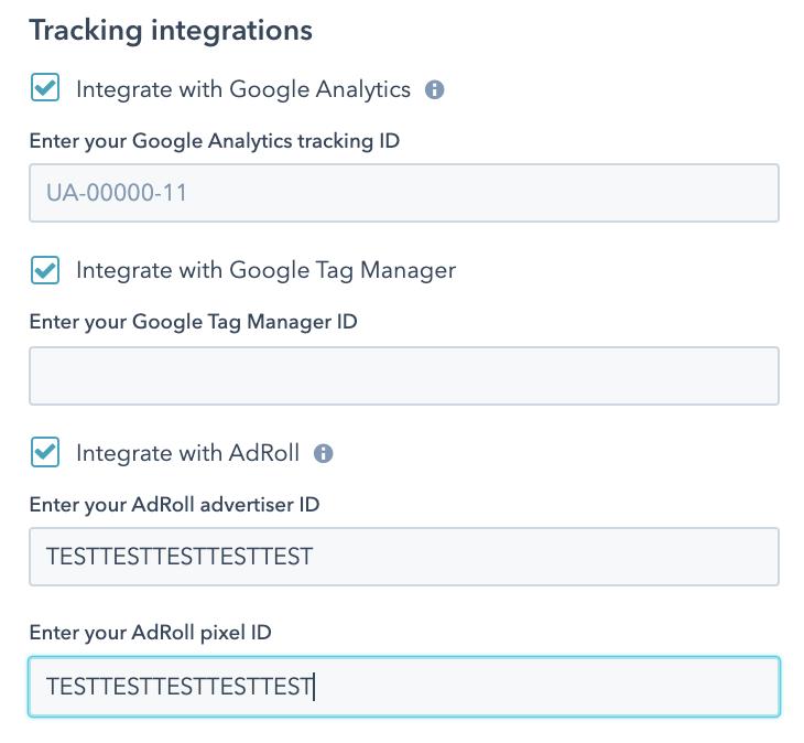 pengaturan hubspot integrasi google analytics