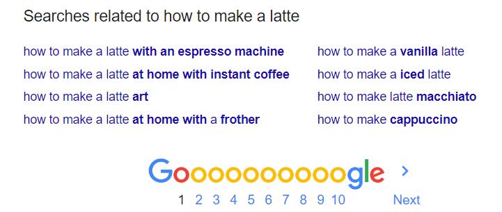 Penelusuran yang terkait dengan cara membuat latte