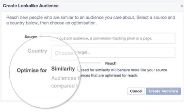 Penargetan iklan Facebook membuat pemirsa serupa