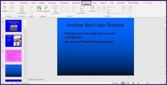 Lacak perubahan pada microsoft powerpoint langkah 2