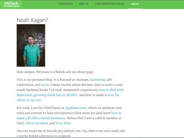Blogging_Noah Kagen_OkDork_About_600