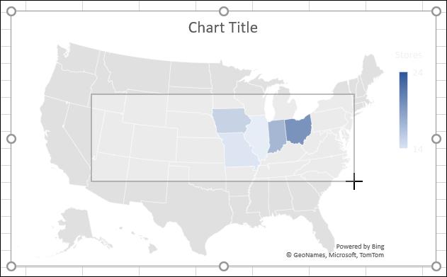 Ubah ukuran Bagan di Excel