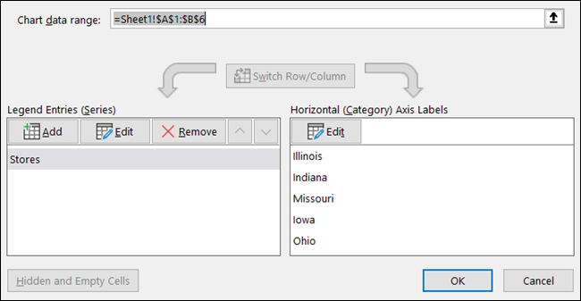 Edit Rentang Data Bagan