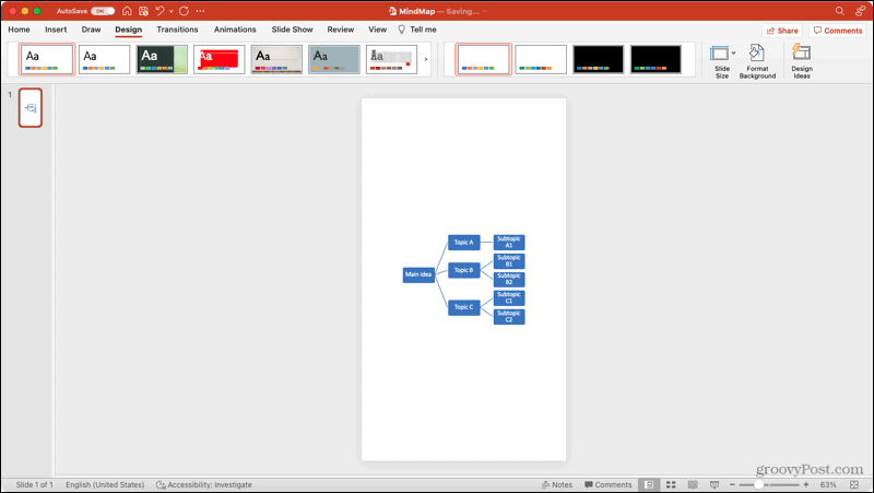 Orientasi Slide Potret di PowerPoint di Mac