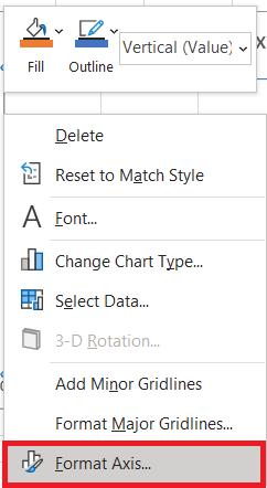 Pengaturan Bagan Excel