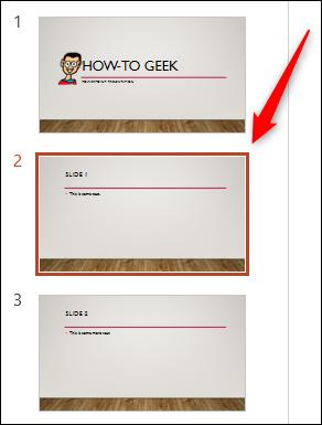 Slide yang dipilih di powerpoint
