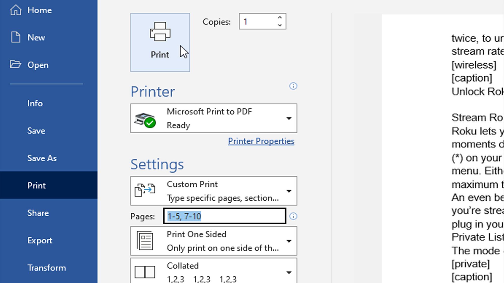 Cara menghapus halaman di Microsoft Word — cetak ke PDF