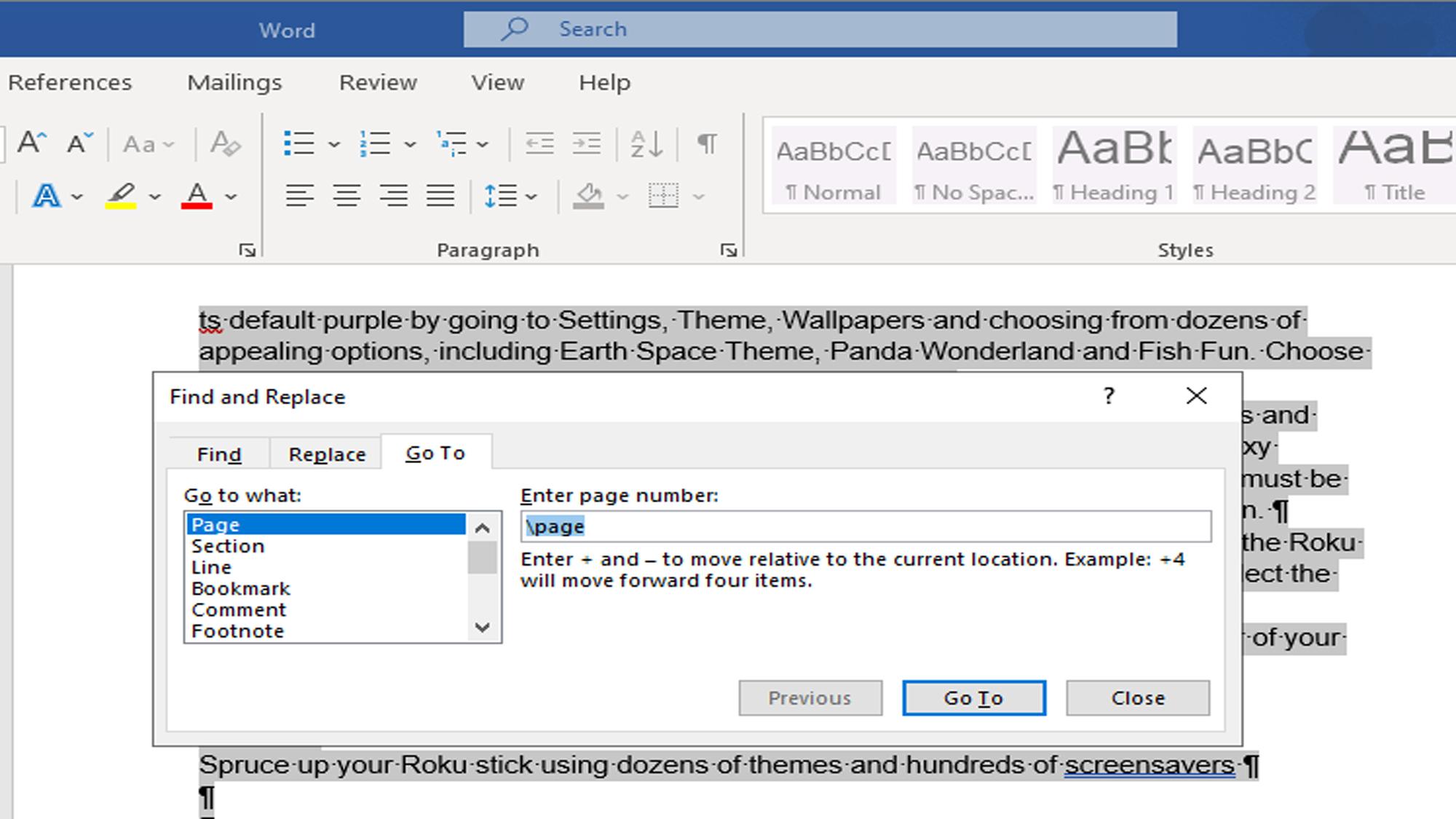 Cara menghapus halaman di Microsoft Word — gunakan temukan dan ganti
