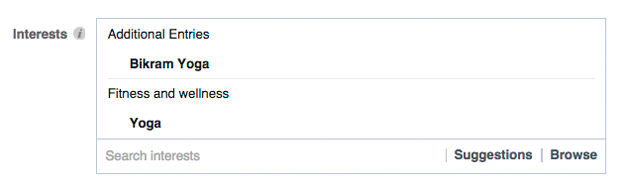 penargetan minat facebook