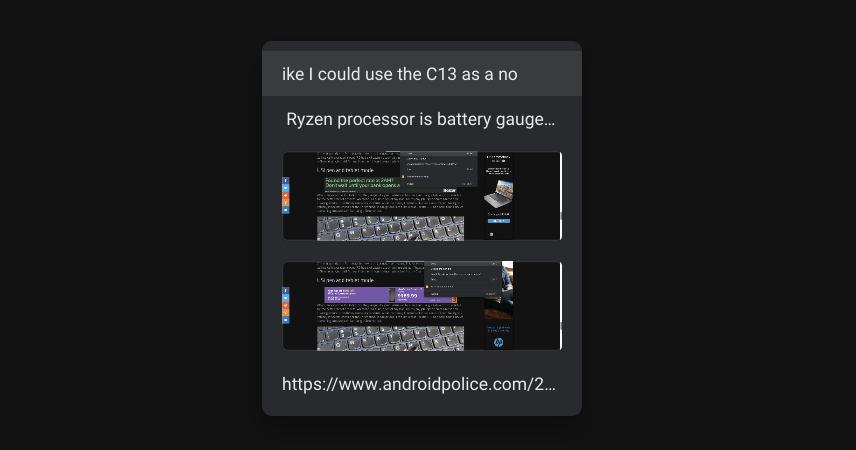 Papan Klip Chrome OS dengan 5 item