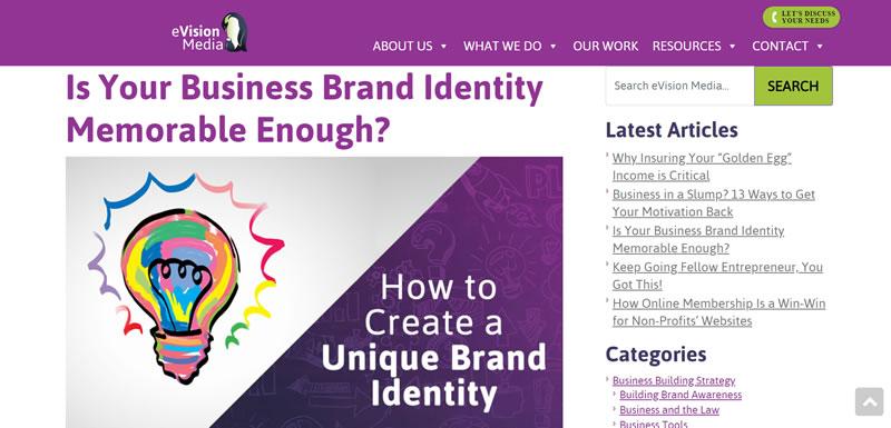 kata kunci identitas merek di posting blog kami