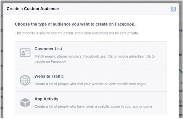 Penargetan iklan Facebook membuat audiens khusus