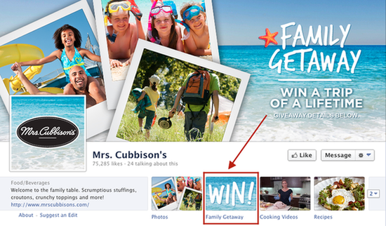 Kontes Pemasaran Facebook