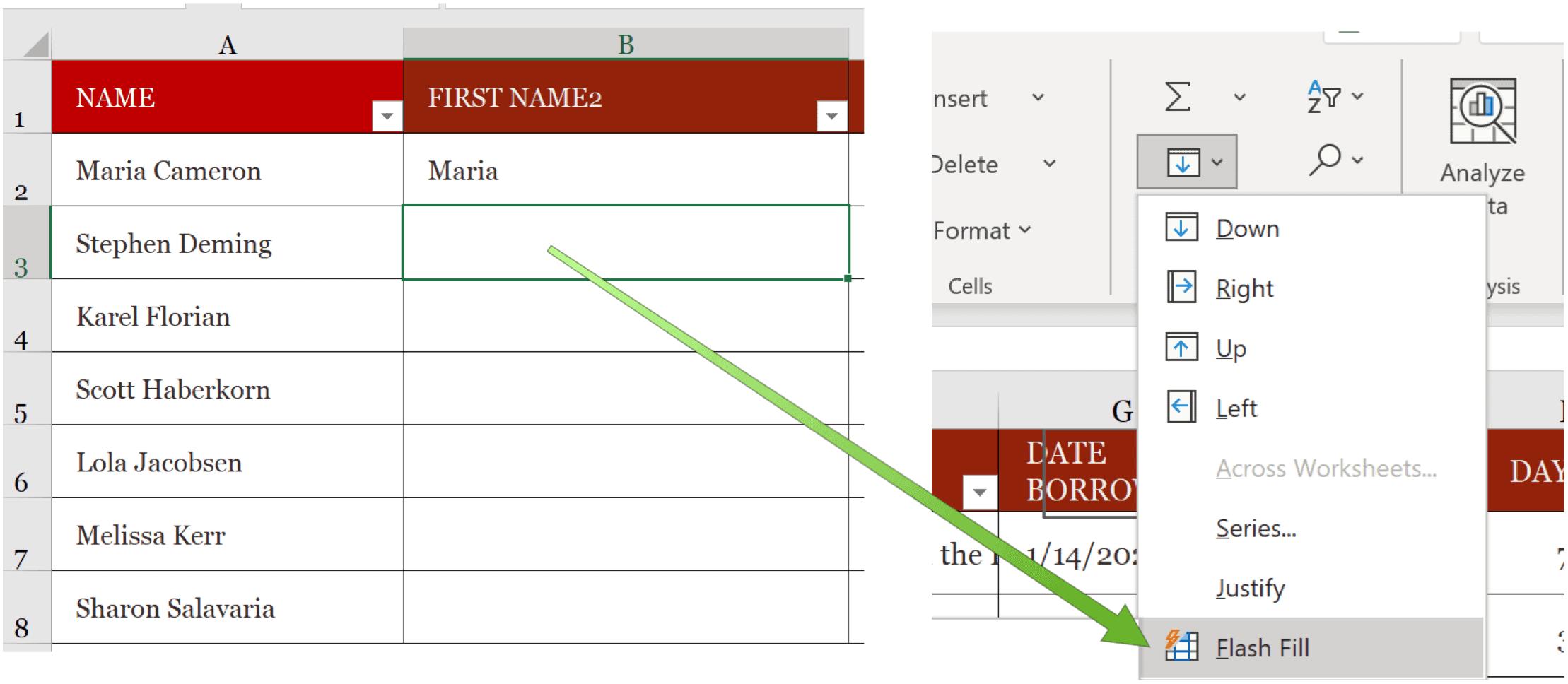 Isi Flash Microsoft Excel
