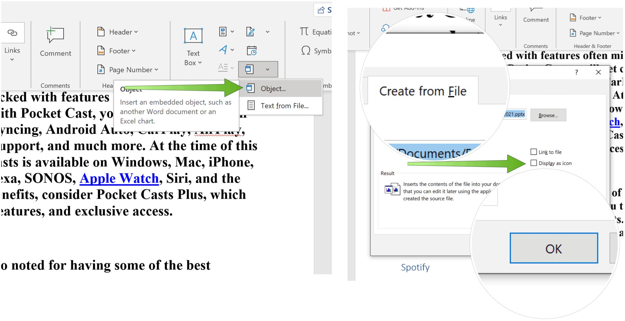 Sematkan PowerPoint Slide Powerpoint buat dari file