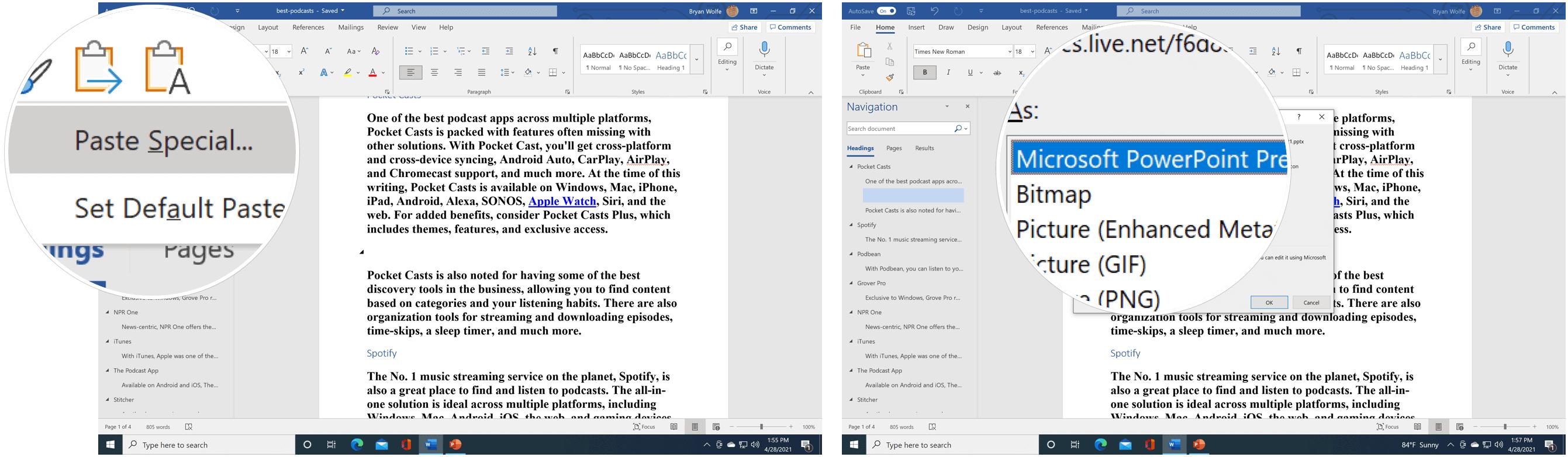 Sematkan PowerPoint Slide PowerPoint yang disematkan