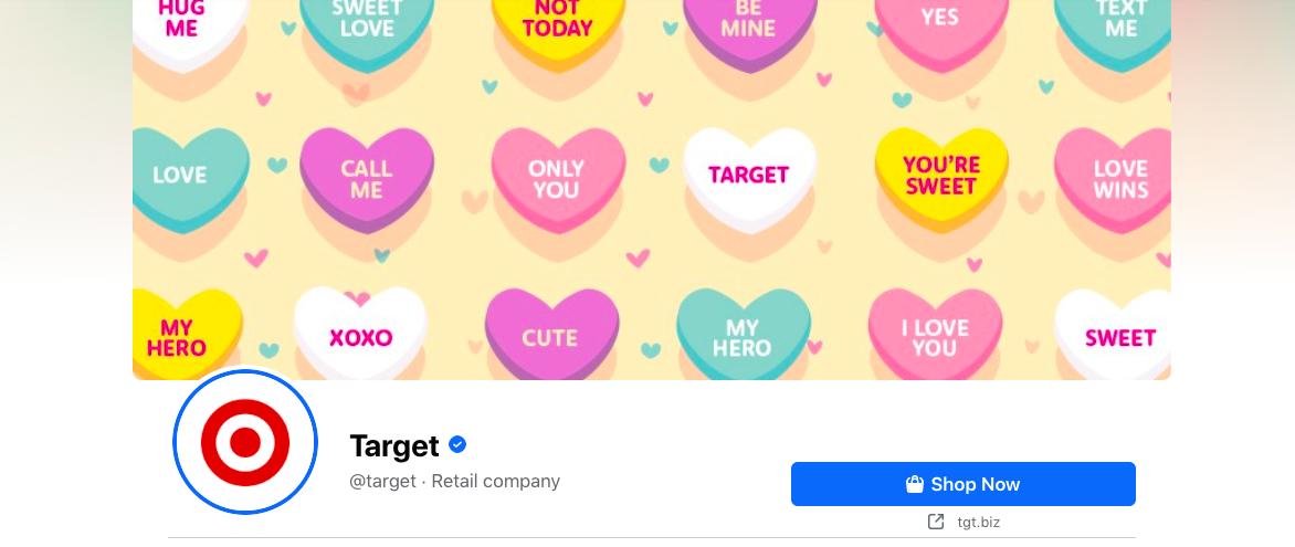 CTA gambar sampul Facebook - Contoh target
