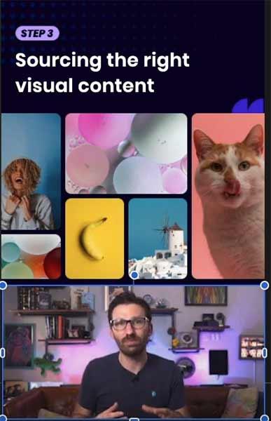 Tangkapan layar editor visual