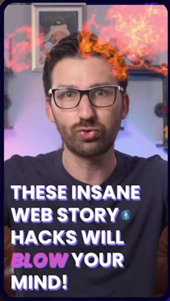 Tangkapan layar yang menunjukkan kemungkinan efek visual di Cerita Web