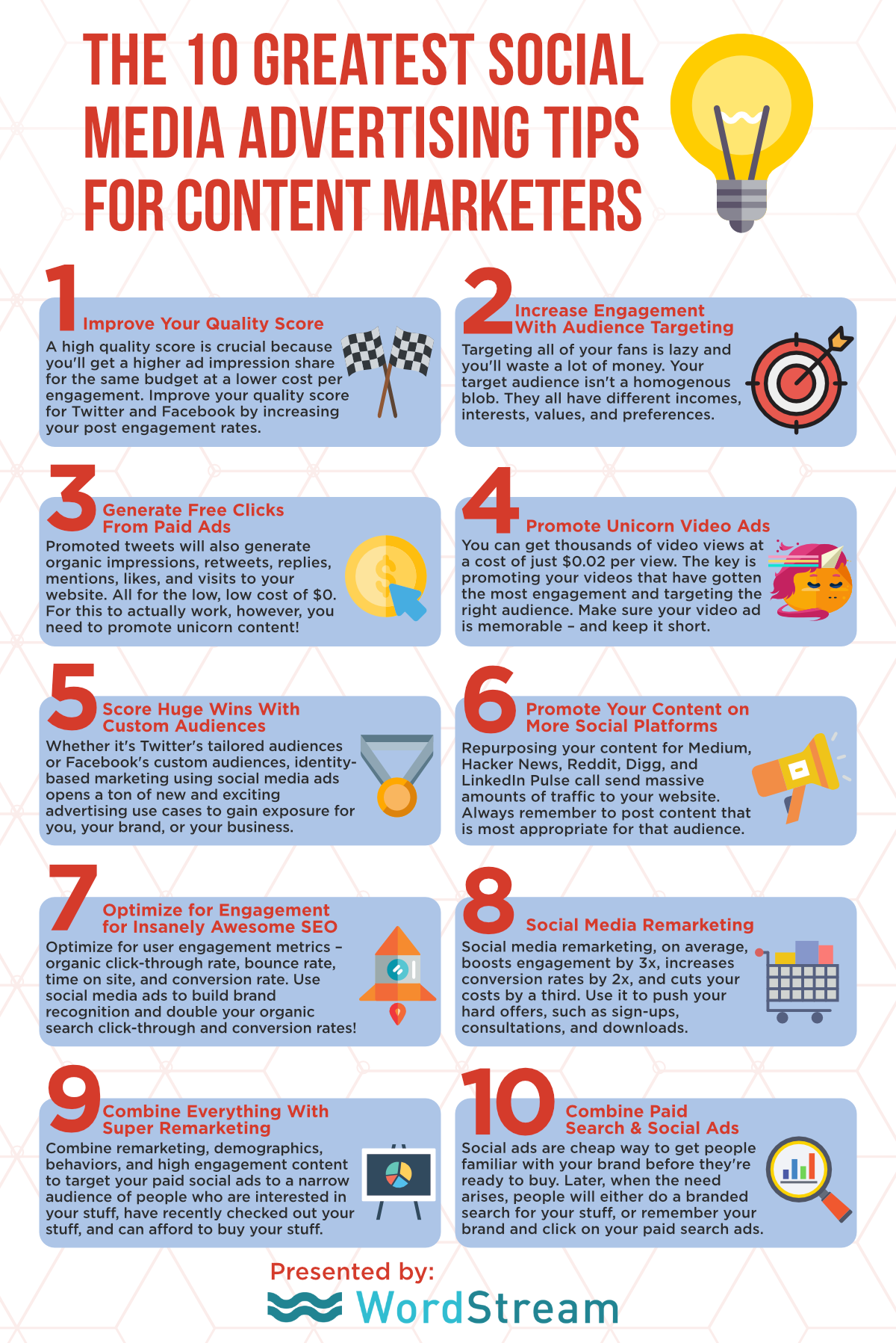 10 infografis tips iklan media sosial teratas