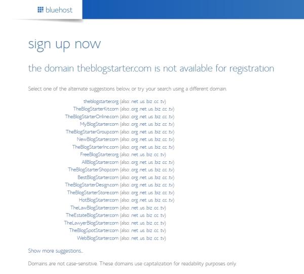 domain tidak tersedia